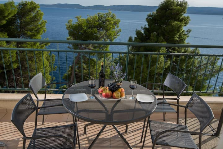 Apartment with private beach near Split