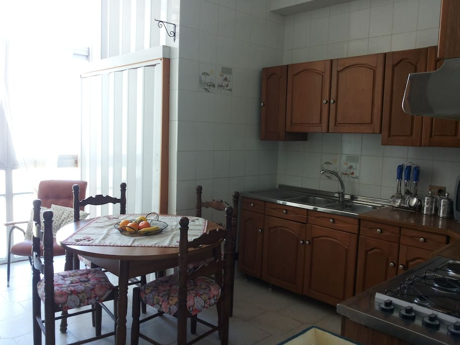 La cucina-veranda
