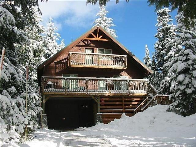 Big Family Home in Gov't Camp, Hot Tub, Snow Zone