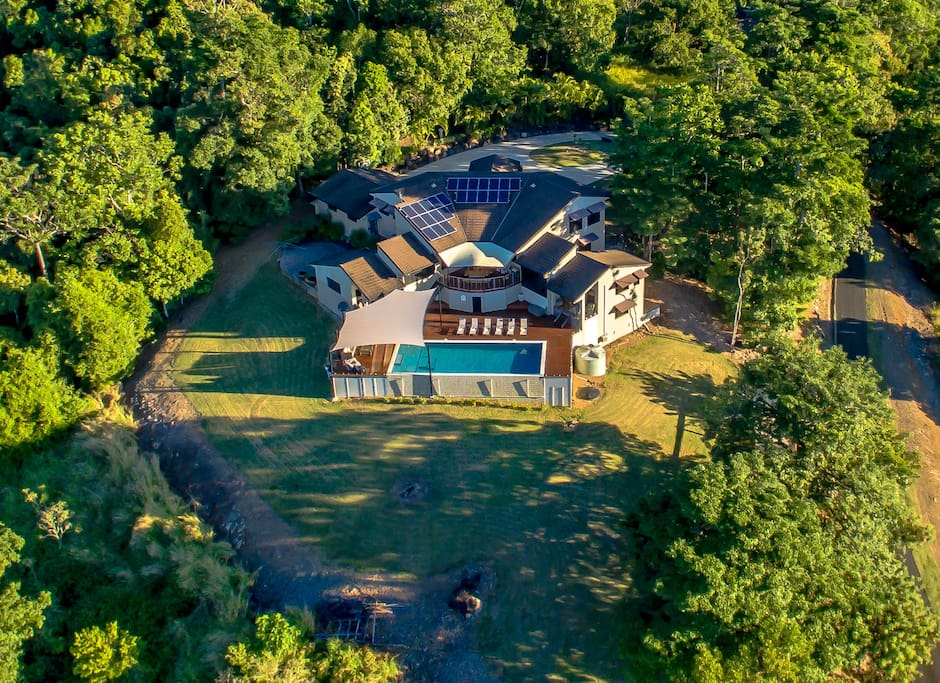 Pepperberry House Aerial Shot