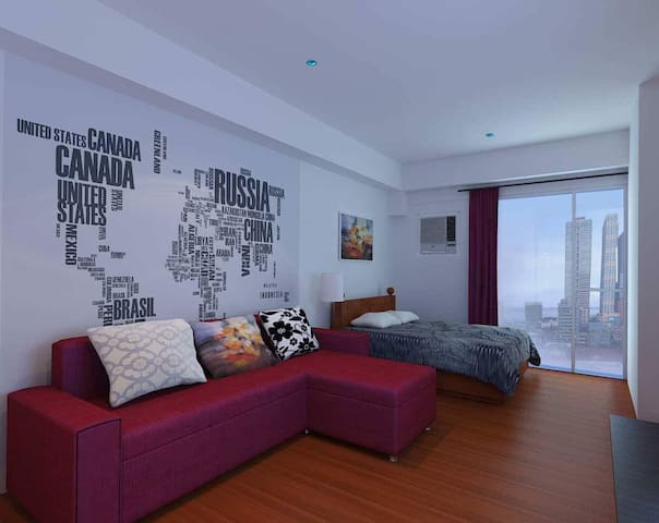 Modern Condo with Manila Bay View