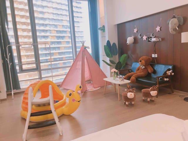 #FengYu Apartment* 【家庭儿童套房】赏澳影视家庭影院/长隆海洋王国/横琴口岸