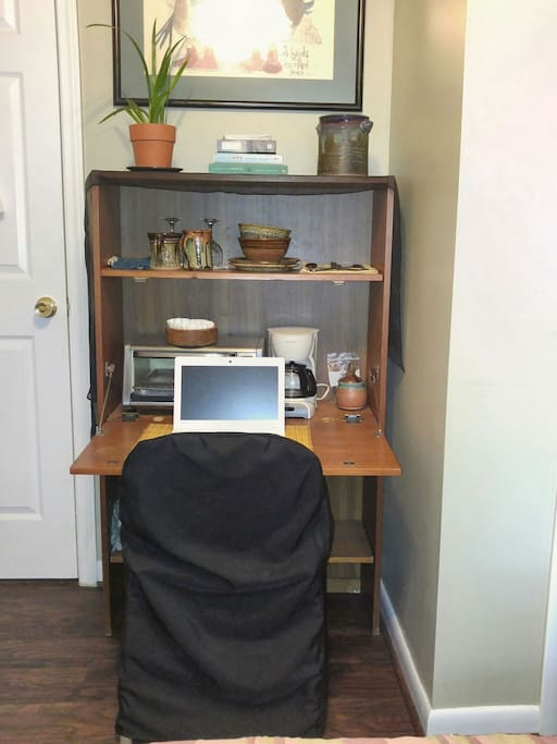 Secretary desk for laptop and studying/working.
