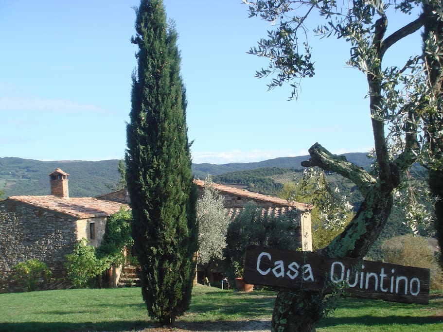 The first view of Casa Quintino as you approach