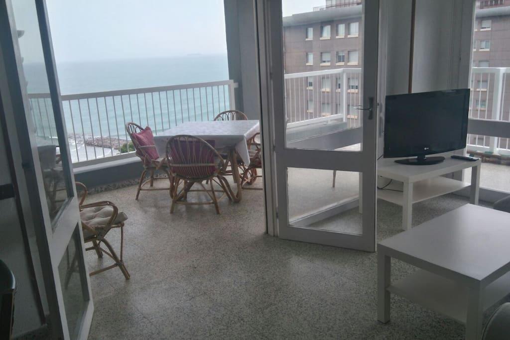 Vista de la terraza desde el salón