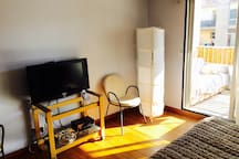 Large studio with terrace close to town center