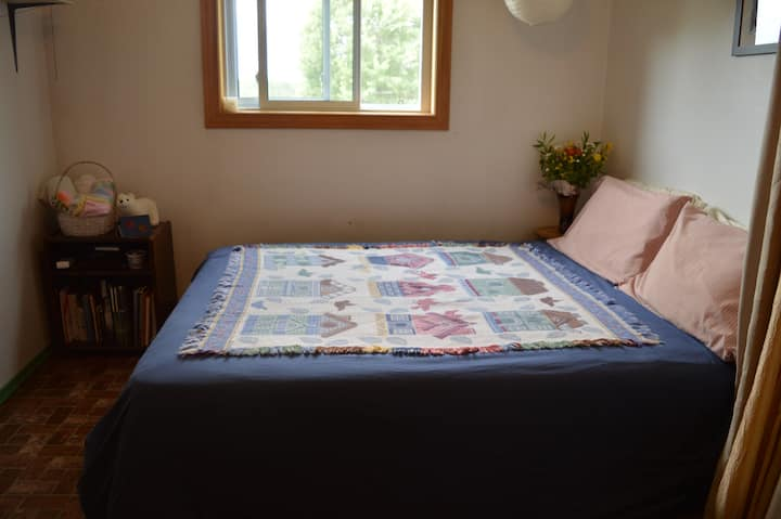 Main Floor Double Bed Bedroom in a Charming House
