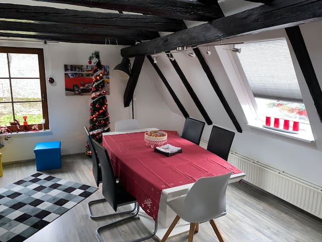Apartment in a 400 years-old half-timbered house