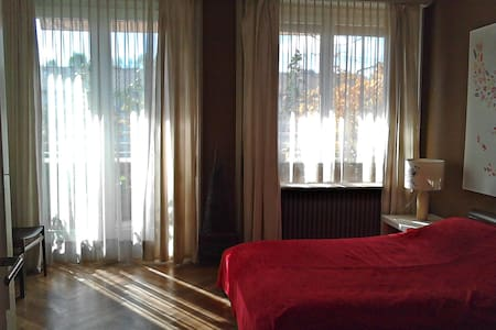 Big sunny bedroom with balcony - Женева - Квартира