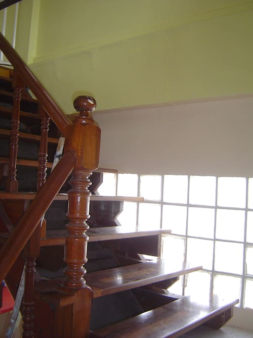 the stair to the 1st floor