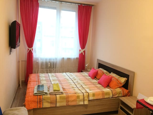 Big & cozy room with comfortable bed in Budapest