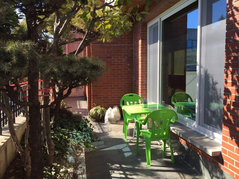 tea table outside
