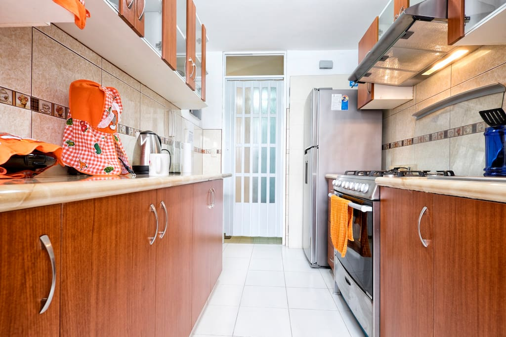 Easy to use kitchen with accessories for an accommodating stay