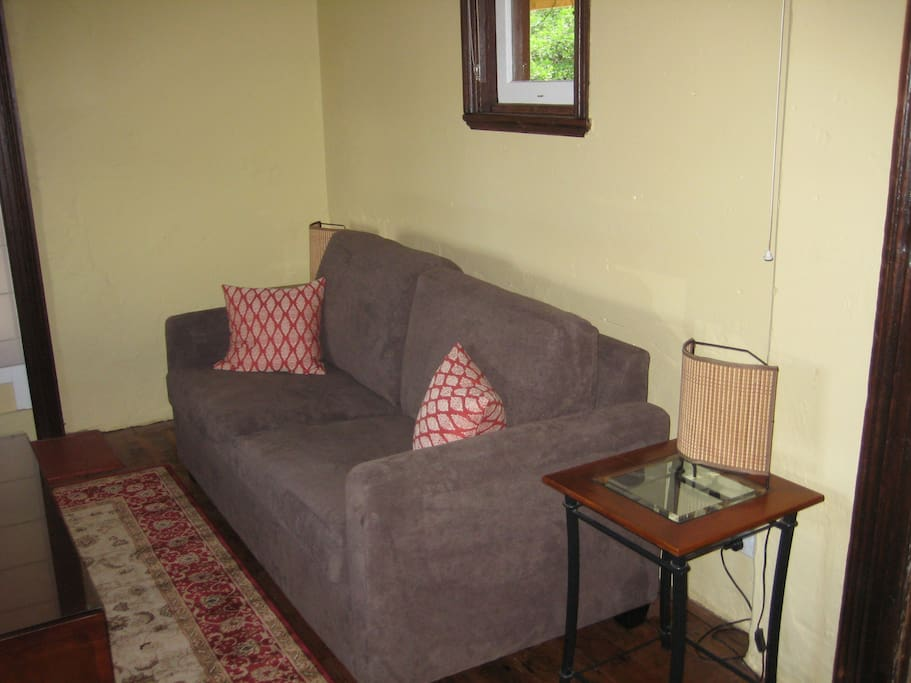Double sofa in the lounge room