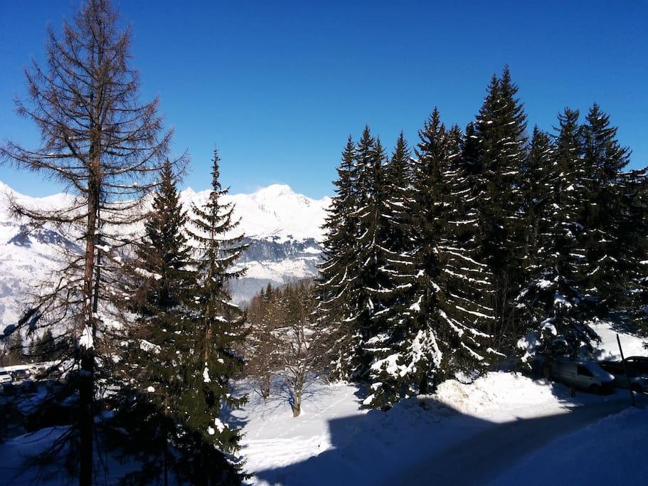 Vue du balcon (Mont Blanc)