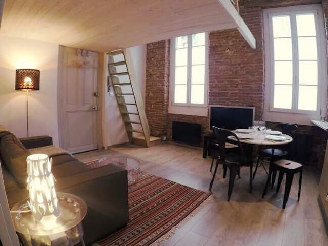 Full of charm studio in the heart of Toulouse