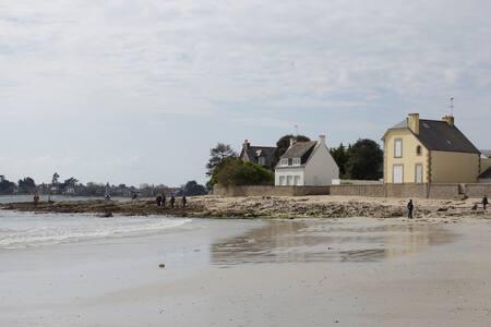 La plage à deux pas à l'Ile Tudy  - Île-Tudy