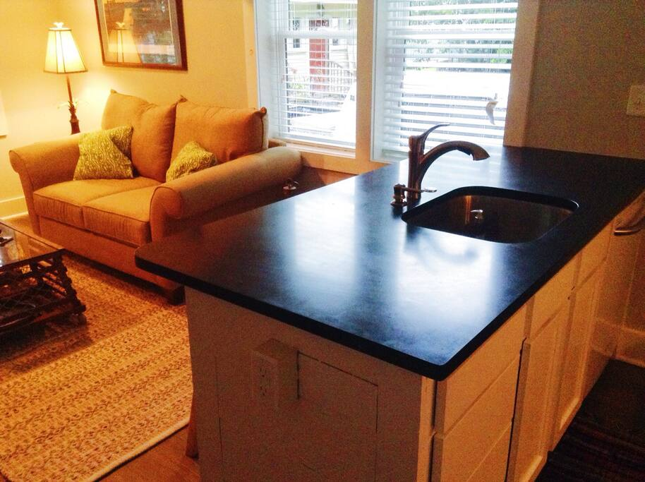 Full functioning kitchen with dishwasher included.