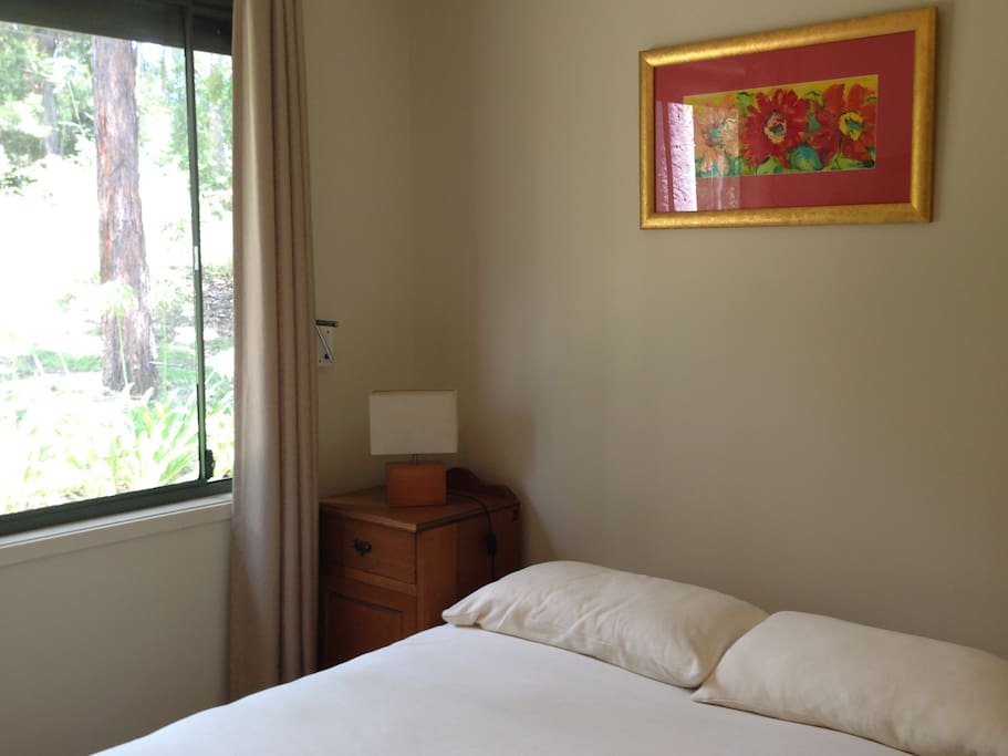 Double bed room alongside the National park
