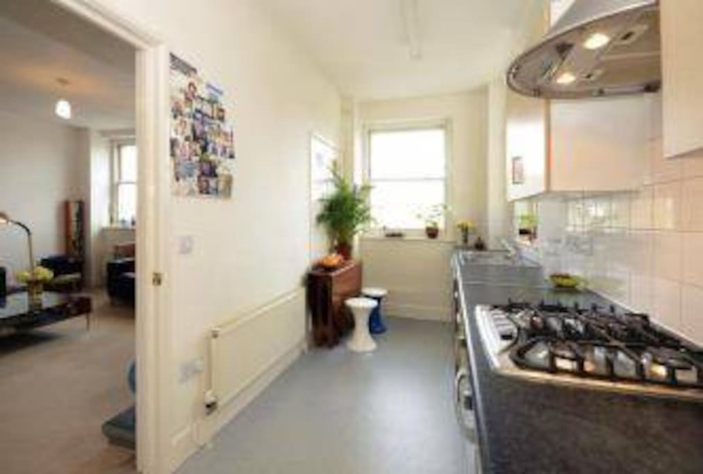 Bright Kitchen with gas cooker