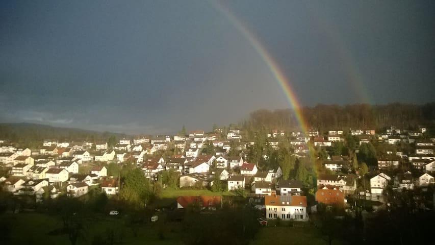 Panoramablick in Tal