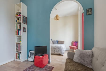 Cozy studio in Buttes Chaumont Park - Paris - Daire