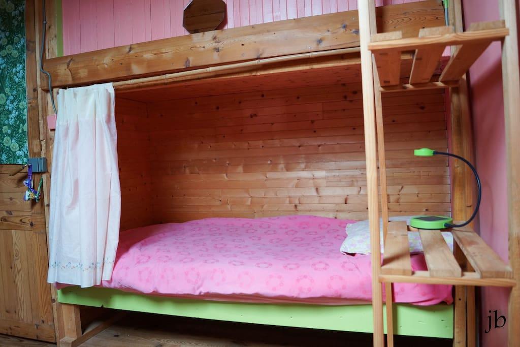 Chambre printemps: vert tendresse et rose bonbon!