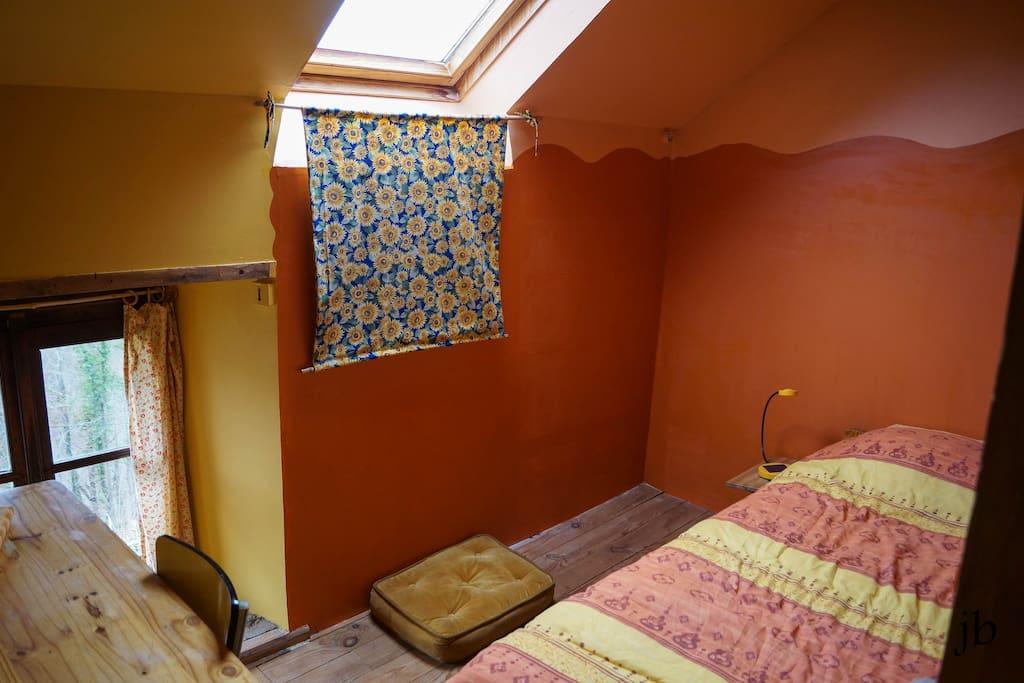 Chambre été: orange soleil et jaune tournesol!