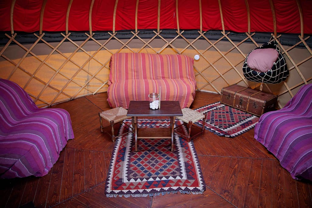 Mongolian Yurts, Moroccan interior in the heart of the Peak District.....why not!