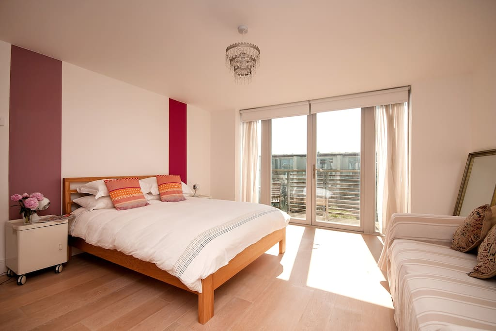 Master bedroom on the top floor with ensuite shower room
