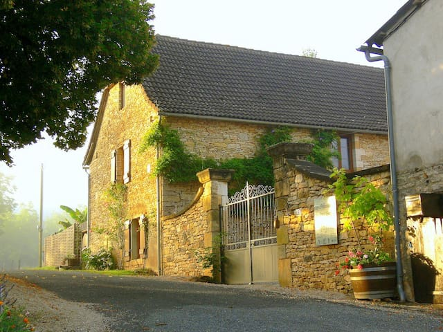Les Hirondelles farmhouse complex Stone cottages dating from 1867