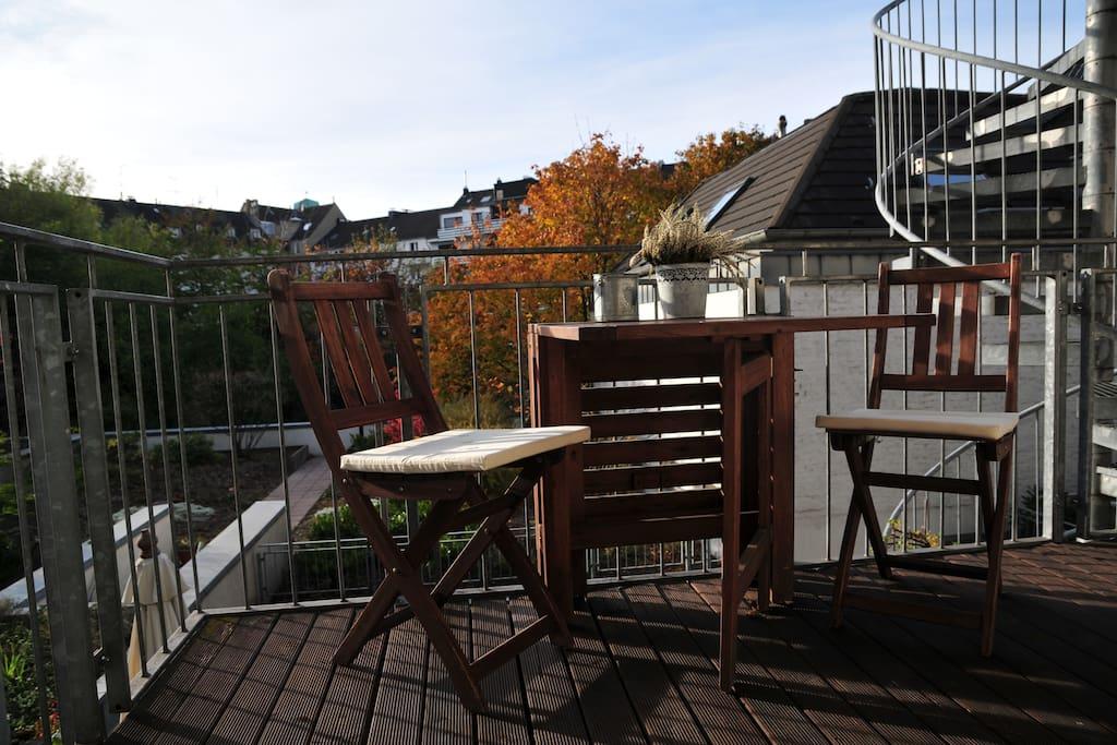 Sonniger Süd-West Balkon