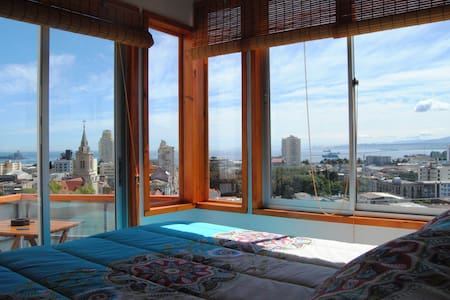 Amazing loft overlooking the bay - Valparaiso