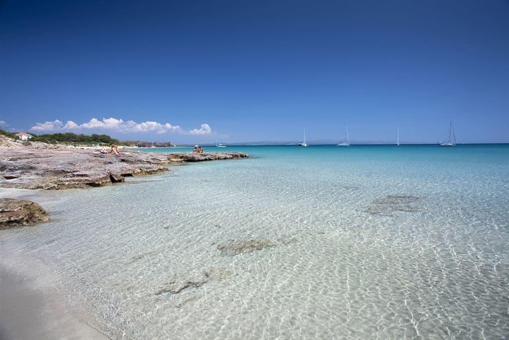 Spiaggia e relax case in affitto a calasetta sardegna for Piani casa sulla spiaggia con portici