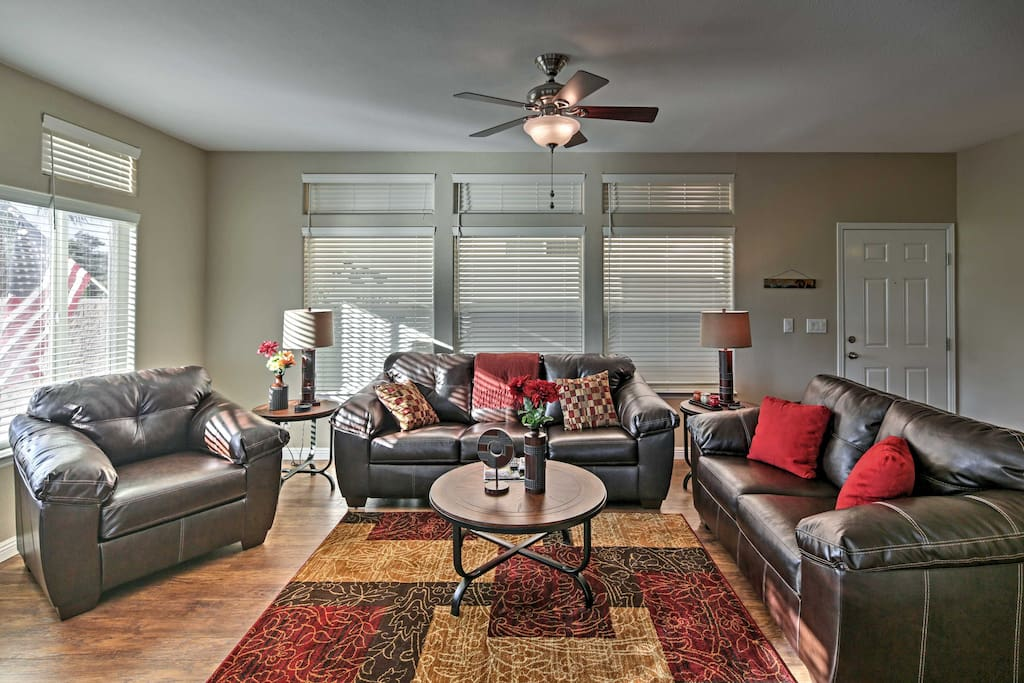 You'll feel right at home inside this comfortable living room.