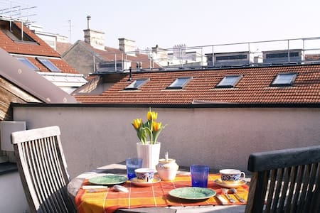 Rooftop Suite B&B in trendy loft - Wien