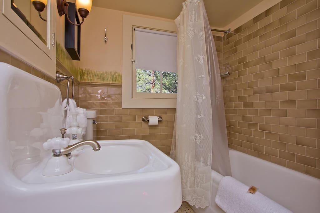 Clean bath/tub combination