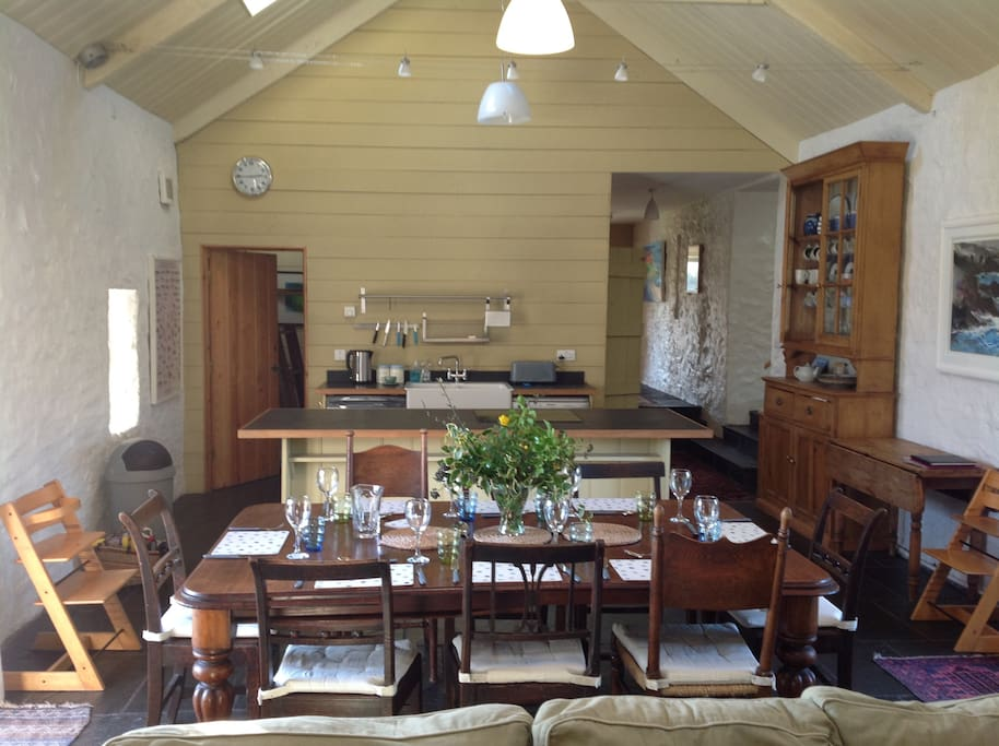 Greenala Barn kitchen / dining room