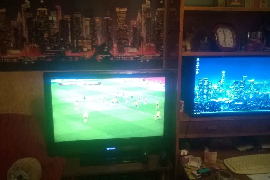 my TV and PC