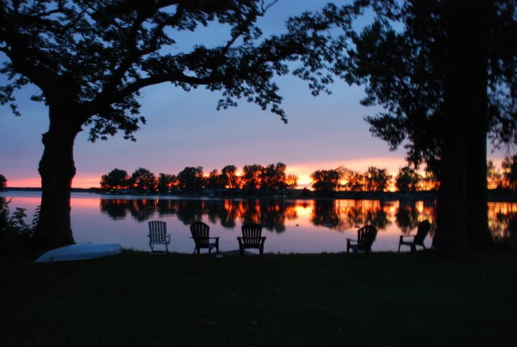 Sunset view from main swim area