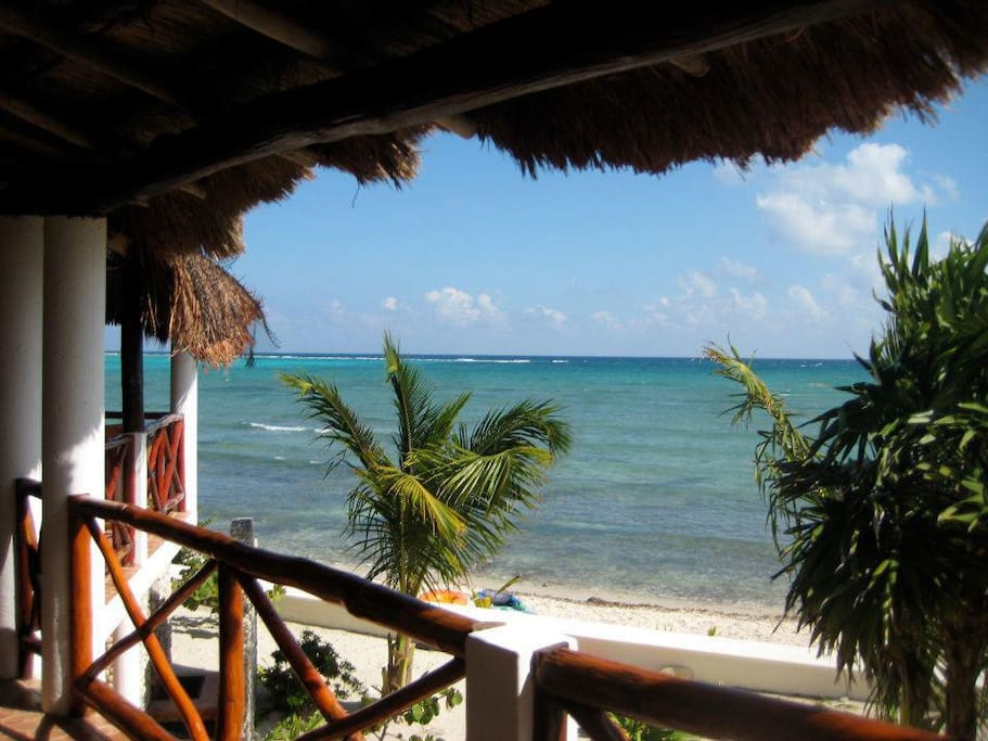 View of Soliman Bay from the covered veranda