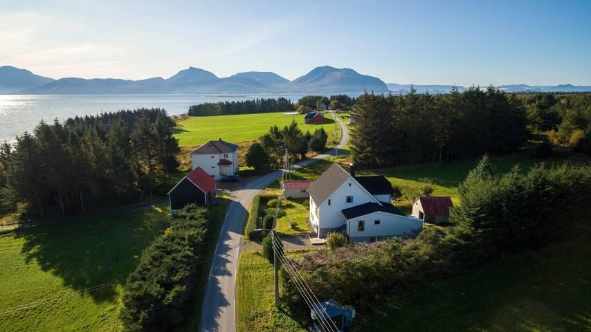 Haus auf Skuløya eine idyllische Insel bei Ålesund