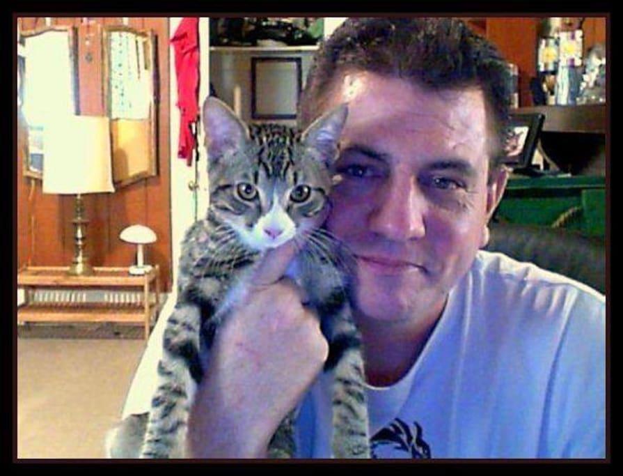 Me and my celebrity cat, Misha