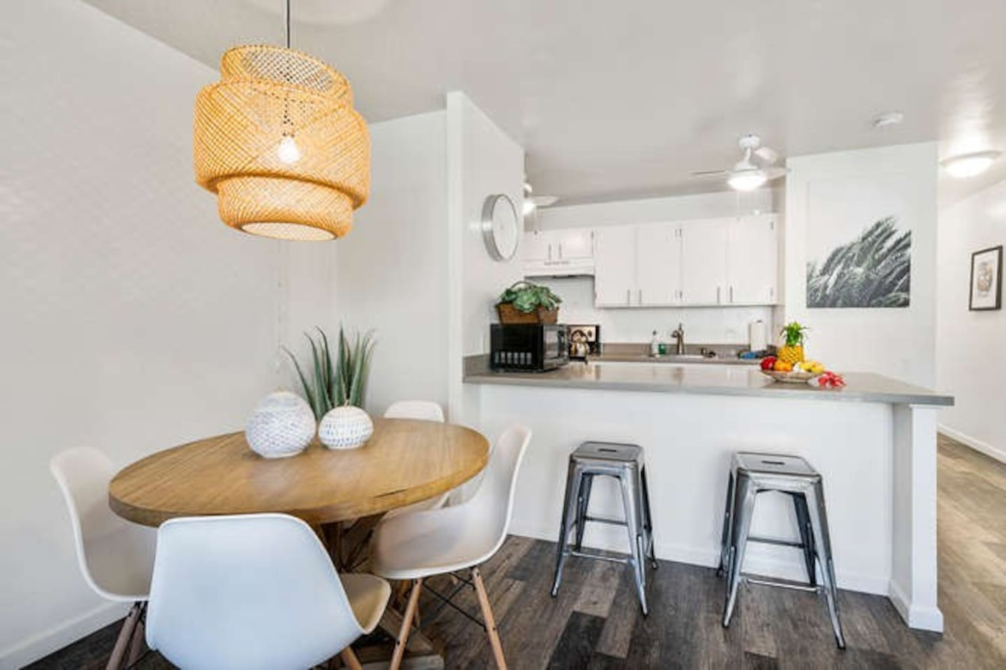 Recently remodeled our one bedroom one bath unit is modern and clean.  Perfect for up to four to stay.
