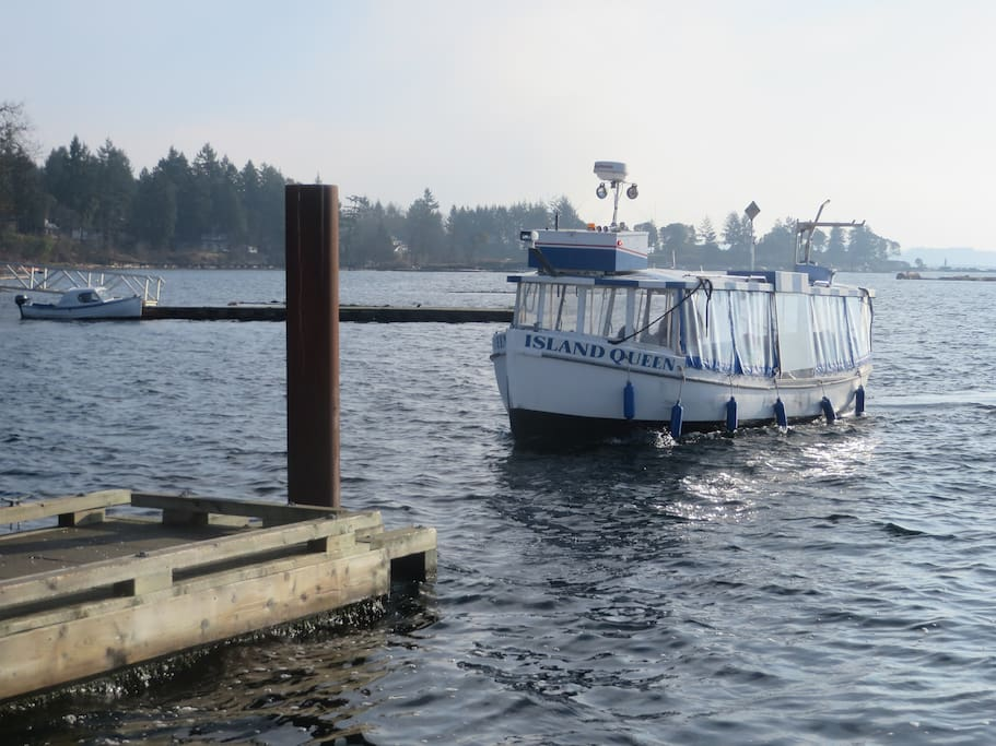 You will arrive on Protection Island via the ferry which leaves Nanaimo every hour.  It is a foot passenger only.