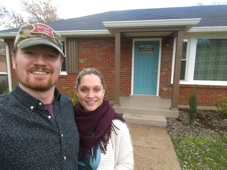Allison and I in front of the house.  More pics coming soon!
