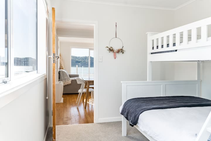 Bedroom 2 -bunkroom.  Located on the main level off the dining area.