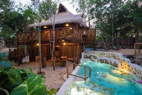 Selvaluna eco-chic cabin in the jungle