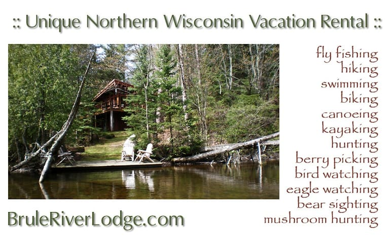 Brule River Lodge, upper Brule, WI  - Brule