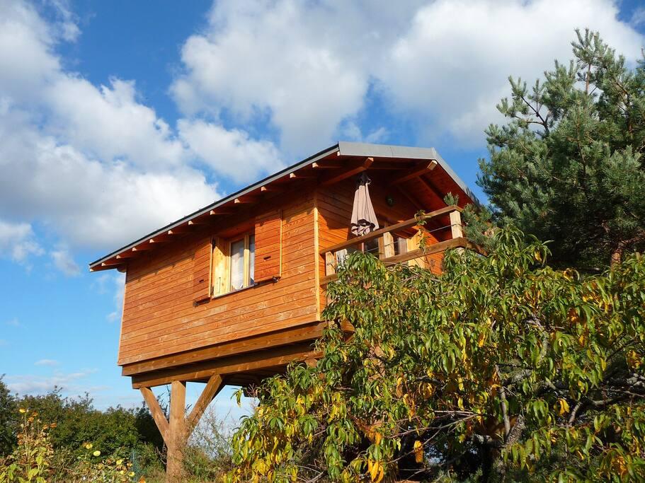 La cabane en été